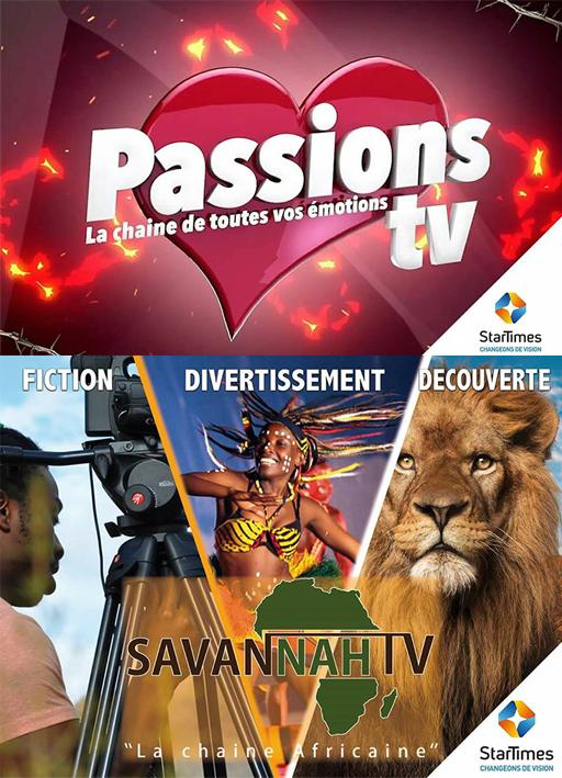 logos PassionsTV & SavannahTV