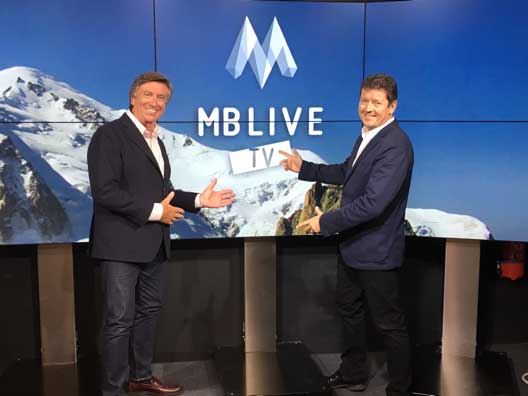 Jacques Legros and Fabien Baunay launching MB Live TV